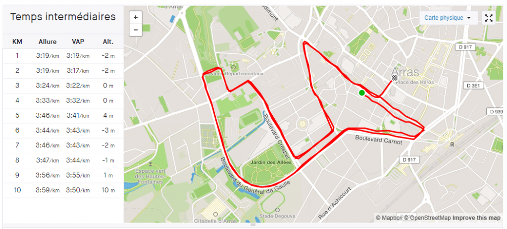 Course 10km arras